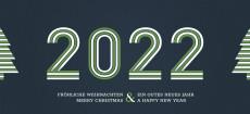 Weihnachtskarte Stripes 2021 Grün