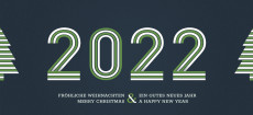 Weihnachtskarte Stripes 2022 Grün