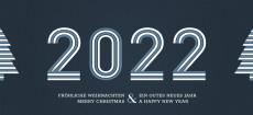 Weihnachtskarte Stripes 2022 Blau