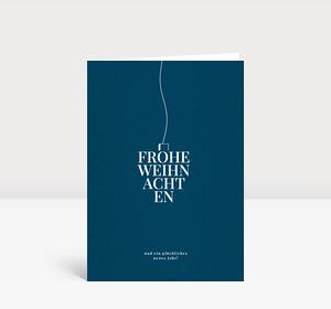 Weihnachtskarte Typokugel Blau
