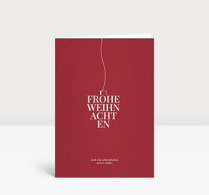 Weihnachtskarte Typokugel Rot