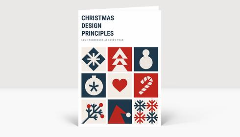Weihnachtskarte Design Principles