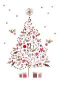 Weihnachtskarte Grußbäumchen