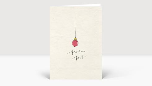 Weihnachtskarte Festtagskügelchen