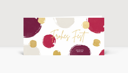 Weihnachtskarte Dots Violett