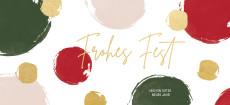Weihnachtskarte Dots Rot-Grün