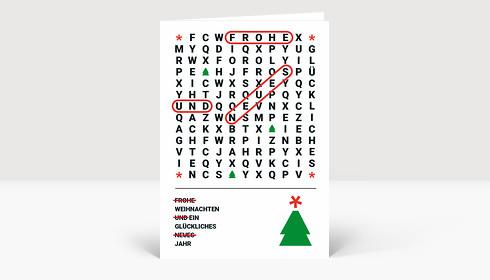 Weihnachtskarte Weihnachtsrätsel