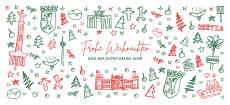 Weihnachtskarte Scribble Berlin