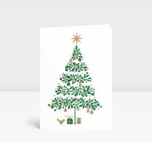 Weihnachtskarte Weihnachtstanne