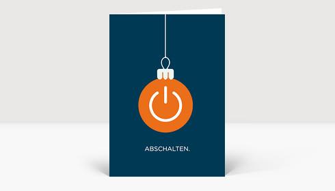 Weihnachtskarte Abschalten