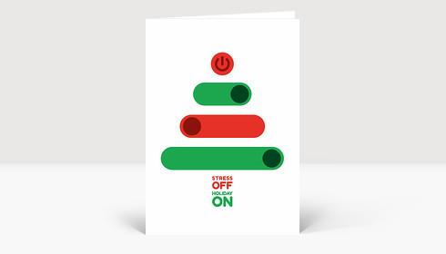 Weihnachtskarte Stress off Holiday on