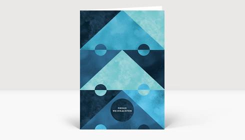 Weihnachtskarte Aquarellbaum