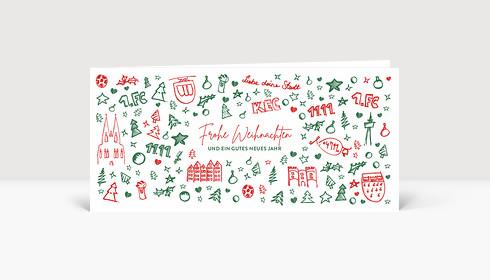Weihnachtskarte Scribble Köln