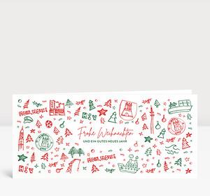 Weihnachtskarte Scribble Hamburg