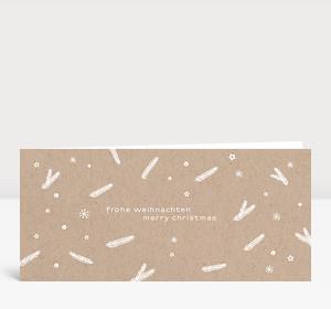 Weihnachtskarte Zweige und Sterne