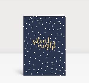 Weihnachtskarte Silent Night