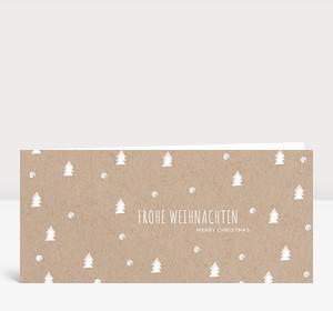 Weihnachtskarte Bäumchen & Flöckchen