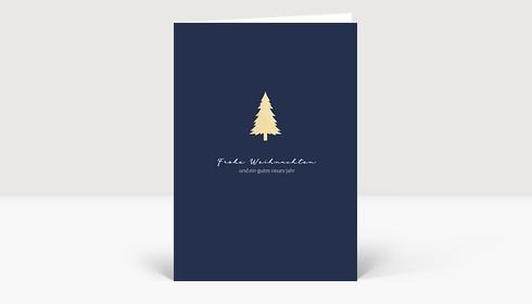 Weihnachtskarte Dezent Blau