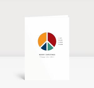 Weihnachtskarte Peace Diagram