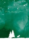 Weihnachtskarte Drauss' im Walde Grün