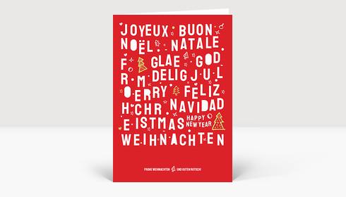 Weihnachtskarte Christmas Lettering