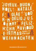 Weihnachtskarte Christmas Lettering Orange