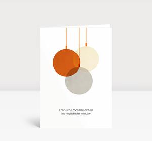 Weihnachtskarte Verschmelzend Orange