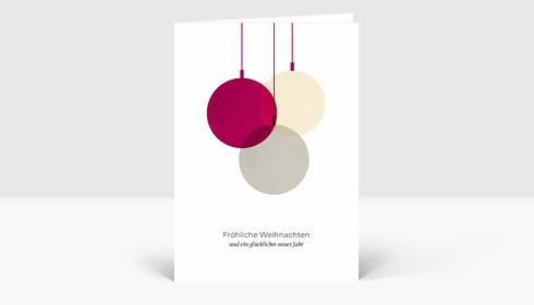 Weihnachtskarte Verschmelzend Violett