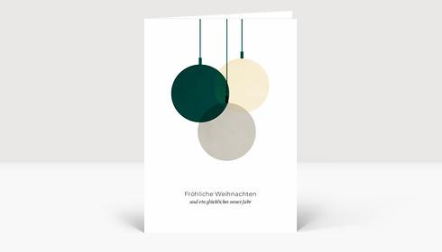Weihnachtskarte Verschmelzend Grün