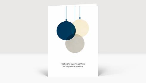 Weihnachtskarte Verschmelzend Blau