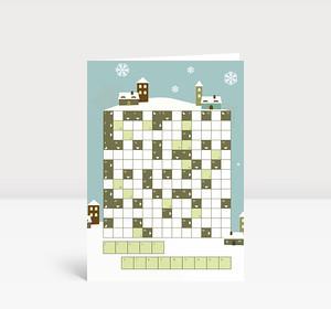 Weihnachtskarte Kreuzworträtsel
