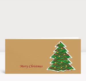 Weihnachtskarte Illustrierter Weihnachtsbaum