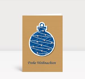Weihnachtskarte Illustrierte Weihnachtskugel#1