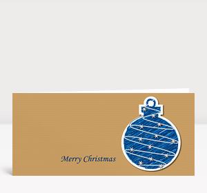 Weihnachtskarte Illustrierte Weihnachtskugel