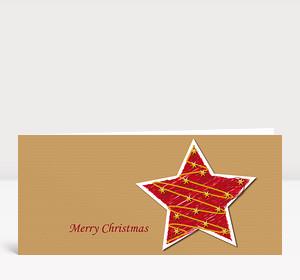 Weihnachtskarte Illustrierter Weihnachtsstern