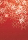 Weihnachtskarte Flockengestöber red