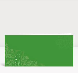 Weihnachtskarte XMAS Ornamente grün
