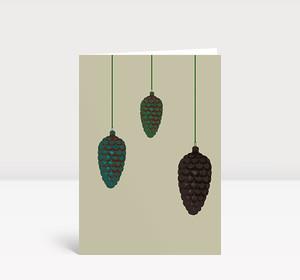 Weihnachtskarte Drei Tannenzapfen