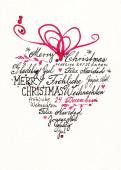 Weihnachtskarte Herz international