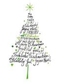 Weihnachtskarte Weihnachtsbaum international