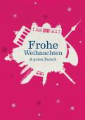 Weihnachtskarte Berlin Schneeball pink