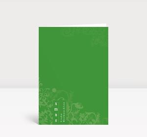 Weihnachtskarte Elegantes Ornament grün