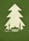 Weihnachtskarte Berlin Tanne grün
