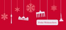 Weihnachtskarte Berlin Flakes rot