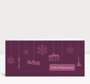 Weihnachtskarte Berlin Flakes violett