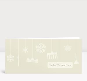 Weihnachtskarte Berlin Flakes creme