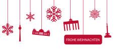 Weihnachtskarte Berlin Flakes rot-weiß