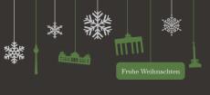 Weihnachtskarte Berlin Flakes grau-grün