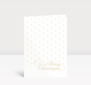 Weihnachtskarte Merry Christmas gold