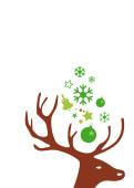 Weihnachtskarte Kleiner Hirschkopf braun